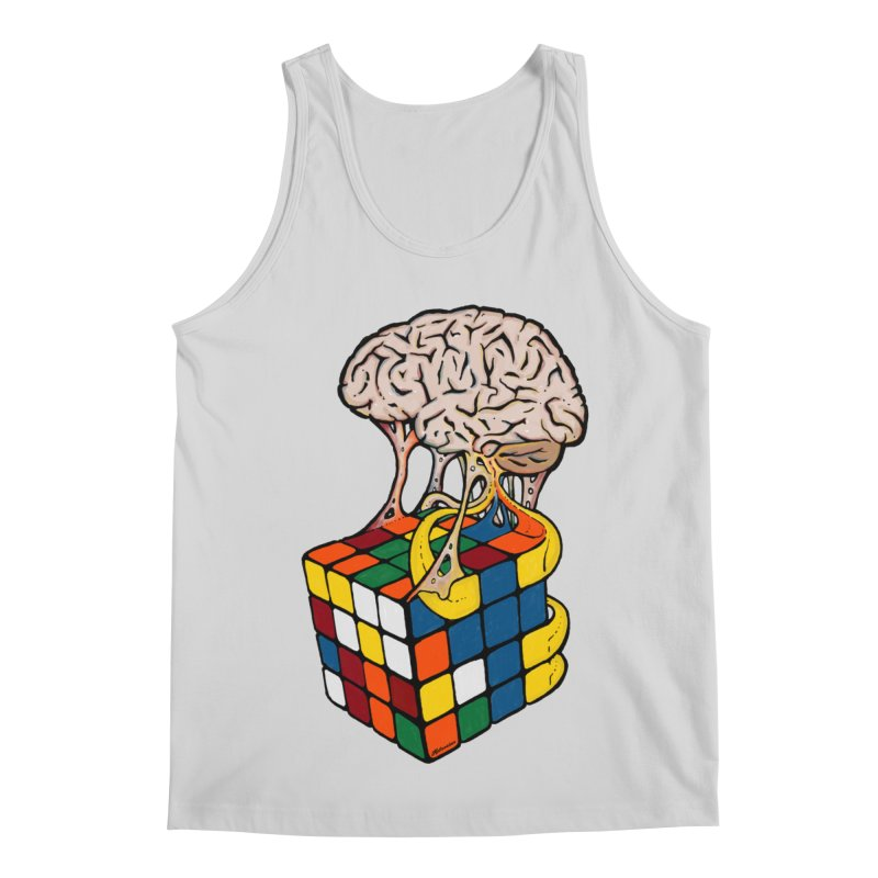 Cube Brain Men's Regular Tank by Kelsorian T-shirt Shop
