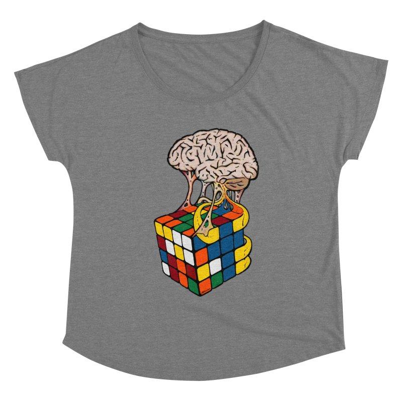 Cube Brain Women's Scoop Neck by Kelsorian T-shirt Shop