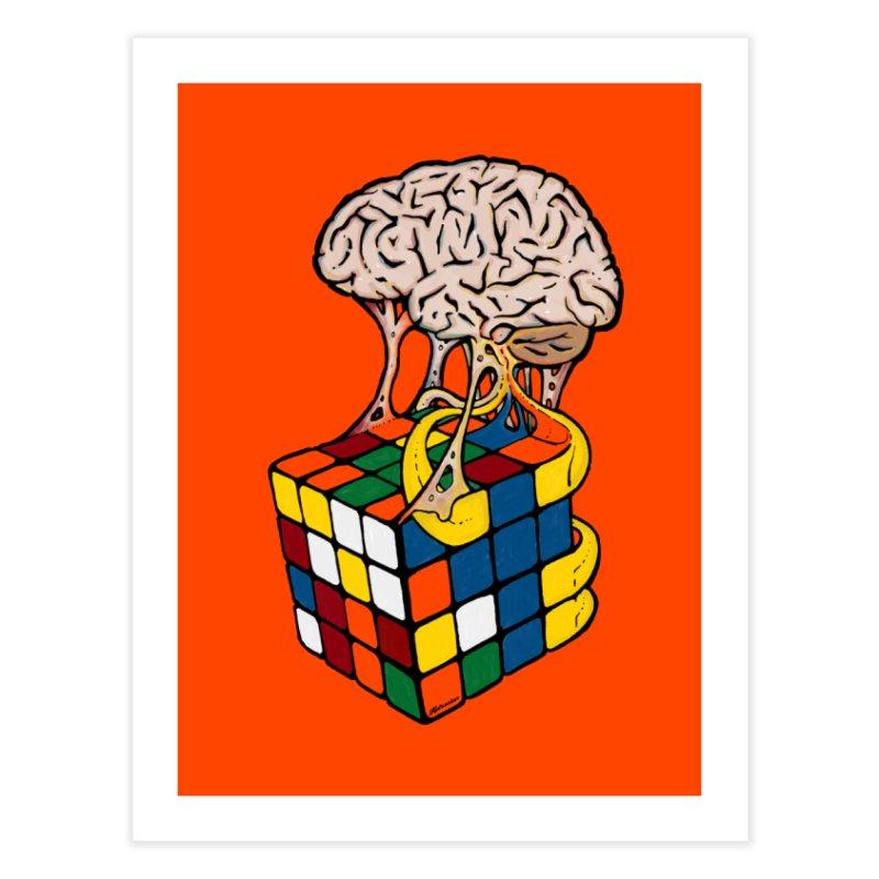 Cube Brain Home Fine Art Print by Kelsorian T-shirt Shop