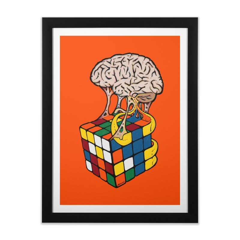 Cube Brain Home Framed Fine Art Print by Kelsorian T-shirt Shop