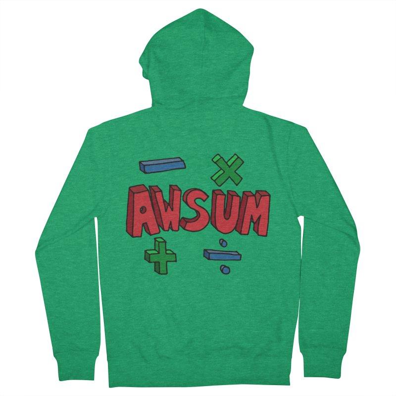 AwSum Men's Zip-Up Hoody by Kelsorian T-shirt Shop