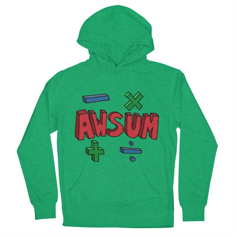 AwSum Men's French Terry Pullover Hoody by Kelsorian T-shirt Shop