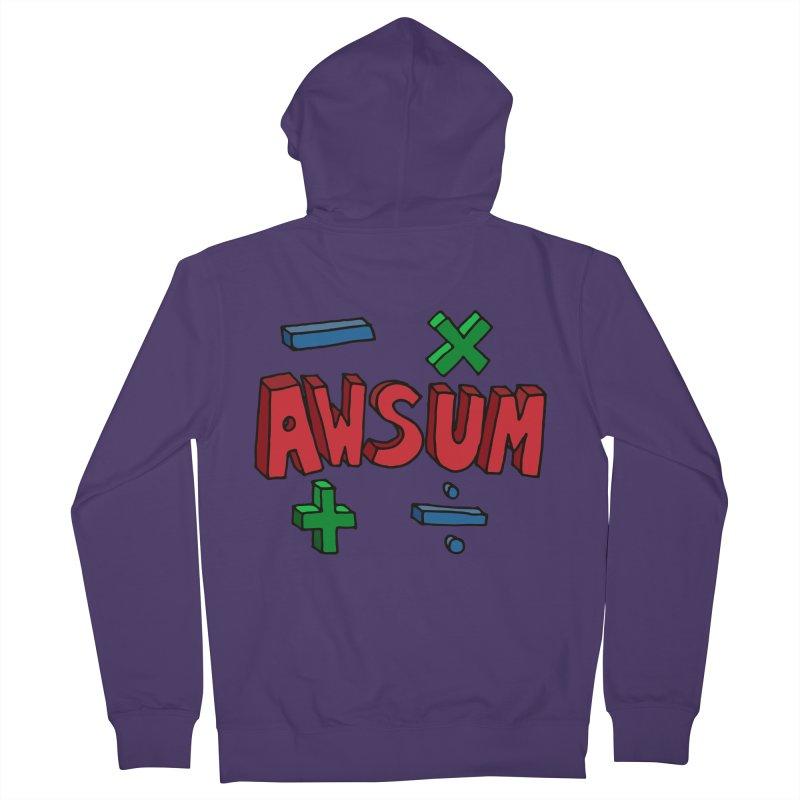 AwSum Women's French Terry Zip-Up Hoody by Kelsorian T-shirt Shop