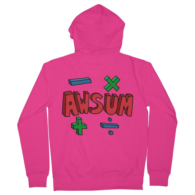 AwSum Men's French Terry Zip-Up Hoody by Kelsorian T-shirt Shop