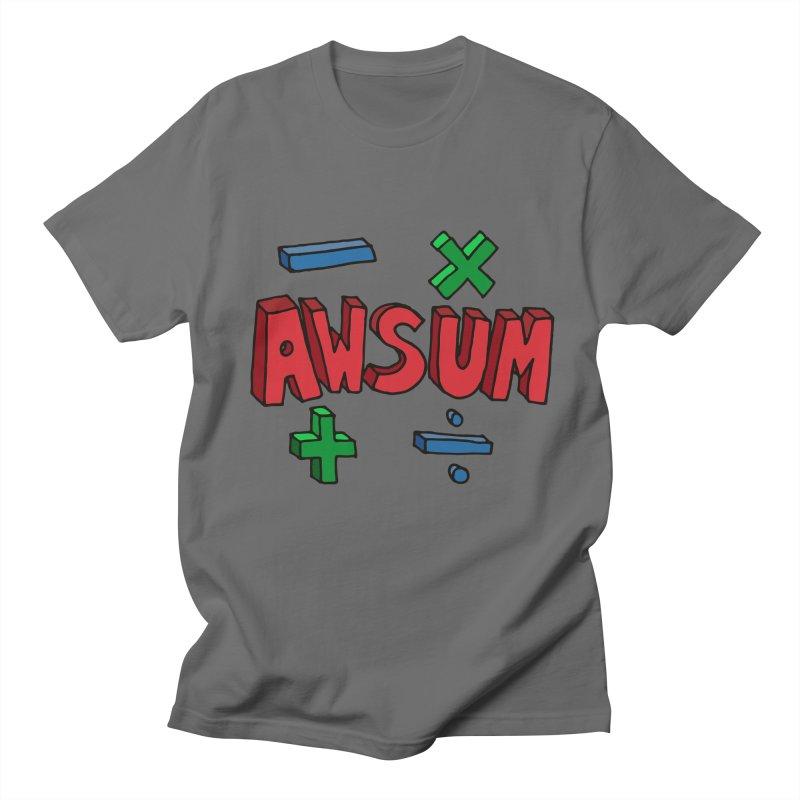 AwSum Men's Regular T-Shirt by Kelsorian T-shirt Shop