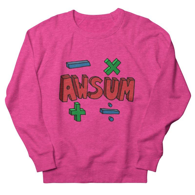 AwSum Men's French Terry Sweatshirt by Kelsorian T-shirt Shop