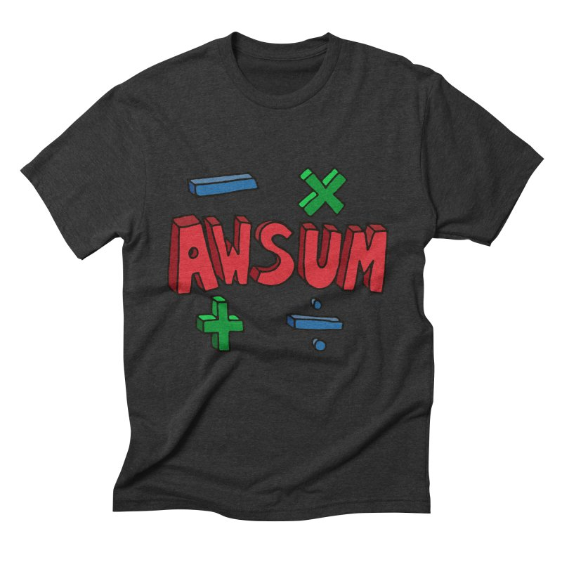 AwSum in Men's Triblend T-Shirt Heather Onyx by Kelsorian T-shirt Shop