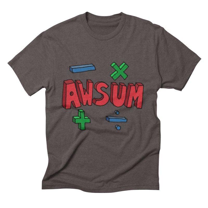 AwSum Men's Triblend T-Shirt by Kelsorian T-shirt Shop