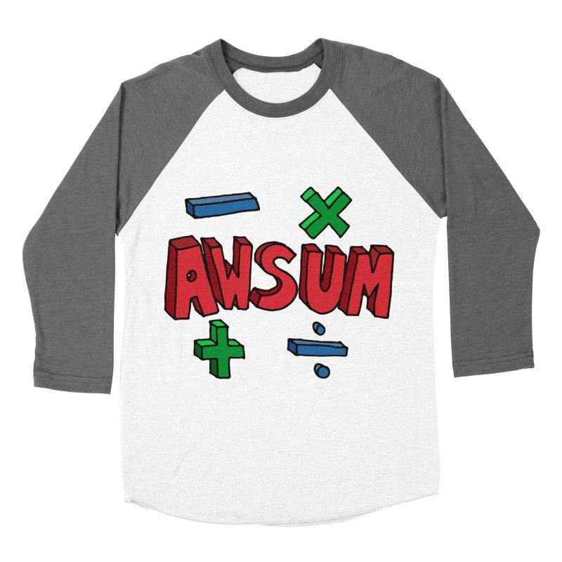 AwSum Women's Baseball Triblend Longsleeve T-Shirt by Kelsorian T-shirt Shop