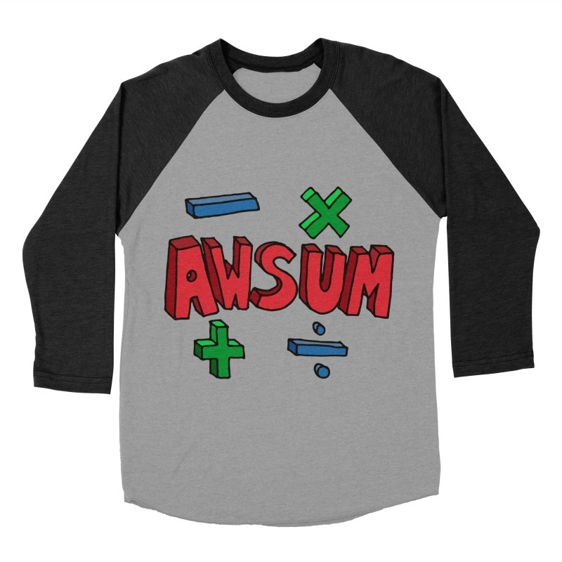 AwSum Women's Baseball Triblend Longsleeve T-Shirt by Kelsorian T-shirt Shop