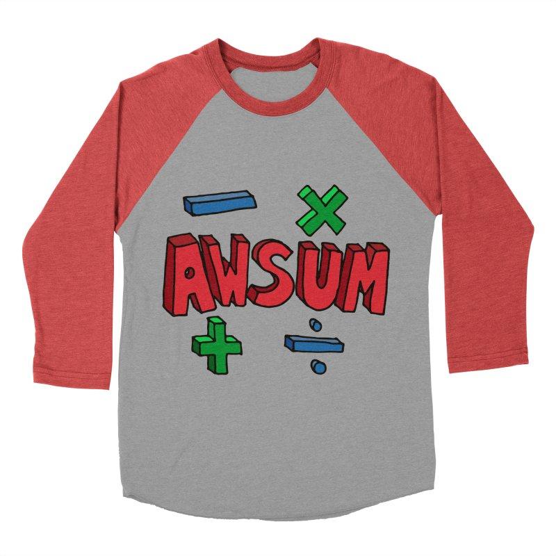 AwSum Men's Baseball Triblend T-Shirt by Kelsorian T-shirt Shop