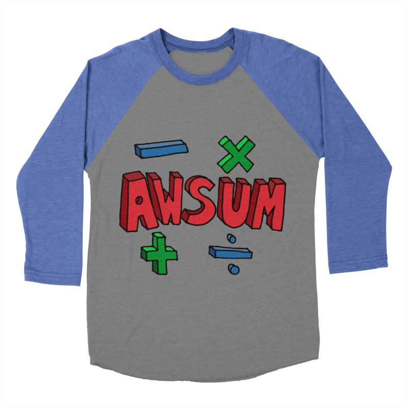 AwSum Men's Baseball Triblend T-Shirt by Kelsorian T-shirt Shop