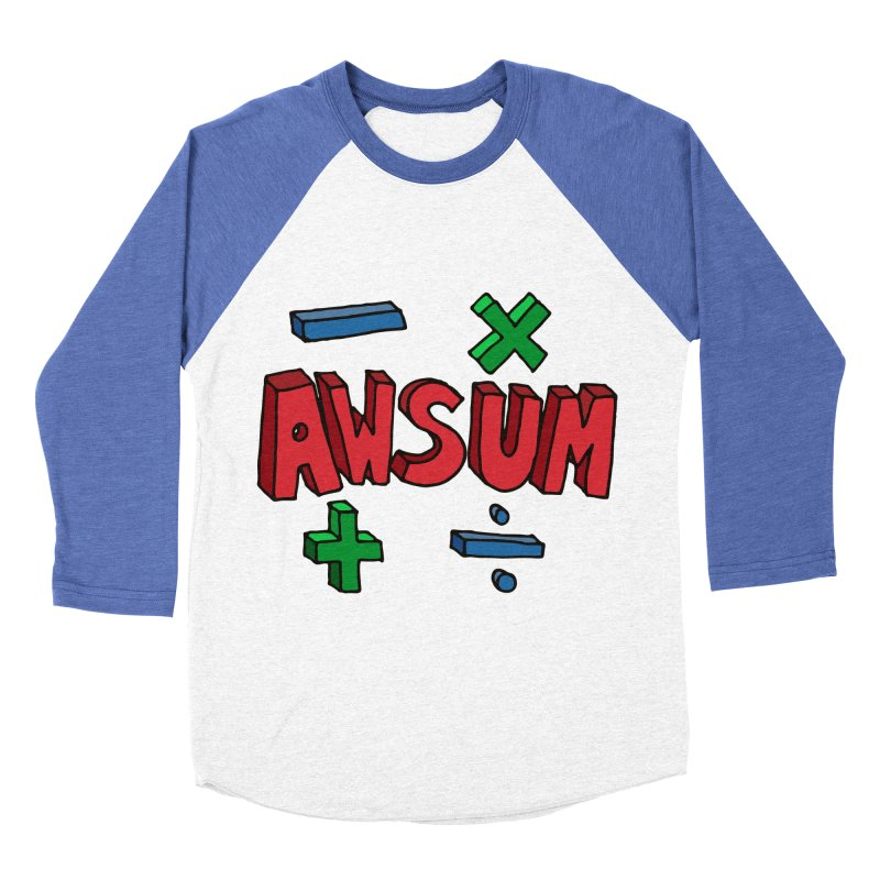 AwSum Men's Baseball Triblend Longsleeve T-Shirt by Kelsorian T-shirt Shop