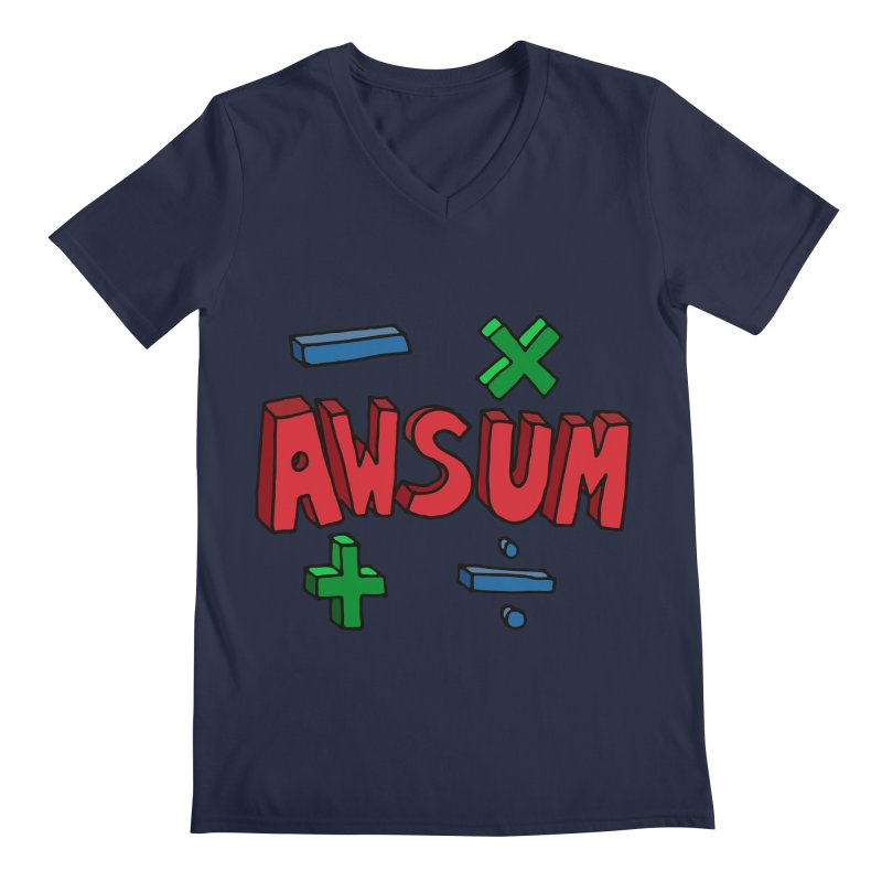 AwSum Men's V-Neck by Kelsorian T-shirt Shop