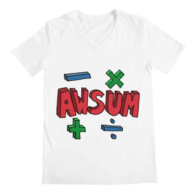 AwSum Men's Regular V-Neck by Kelsorian T-shirt Shop