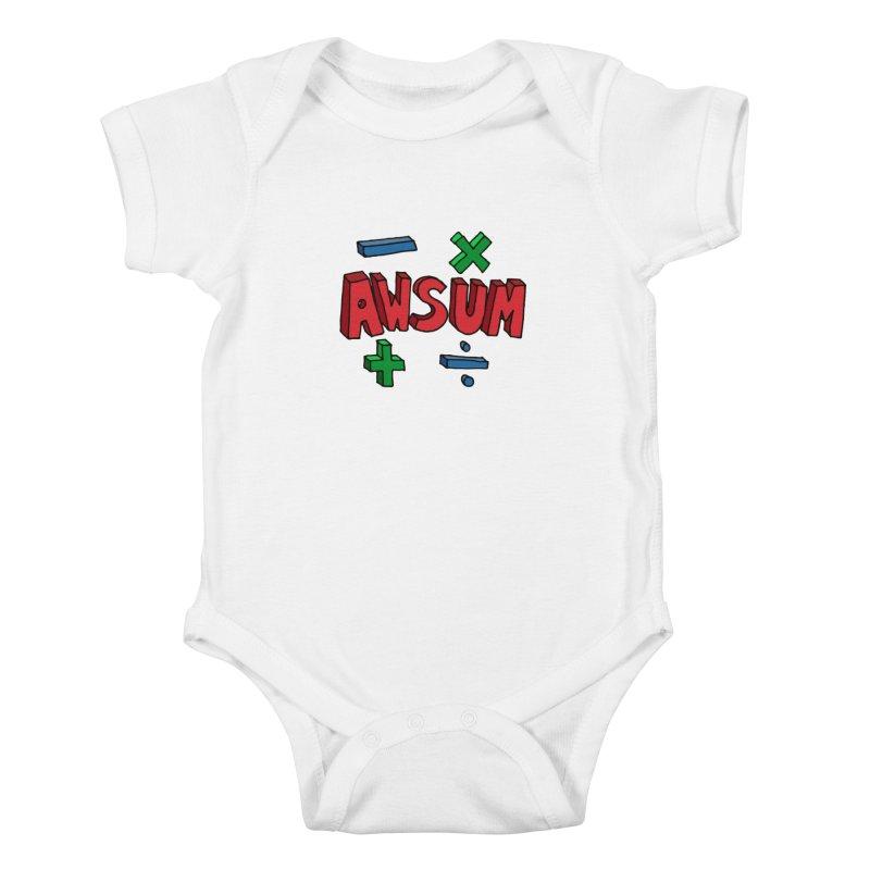 AwSum Kids Baby Bodysuit by Kelsorian T-shirt Shop