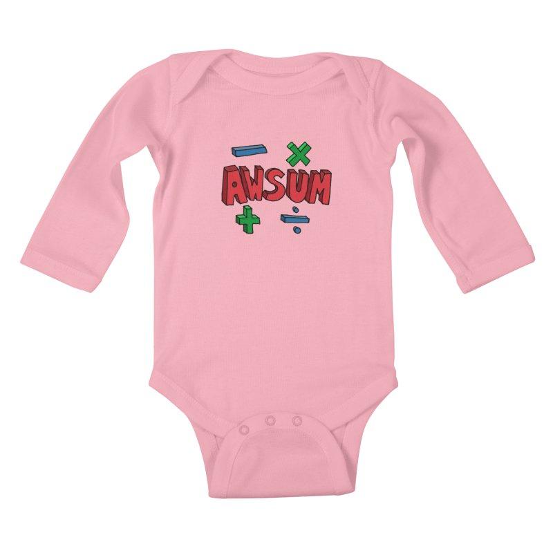 AwSum Kids Baby Longsleeve Bodysuit by Kelsorian T-shirt Shop
