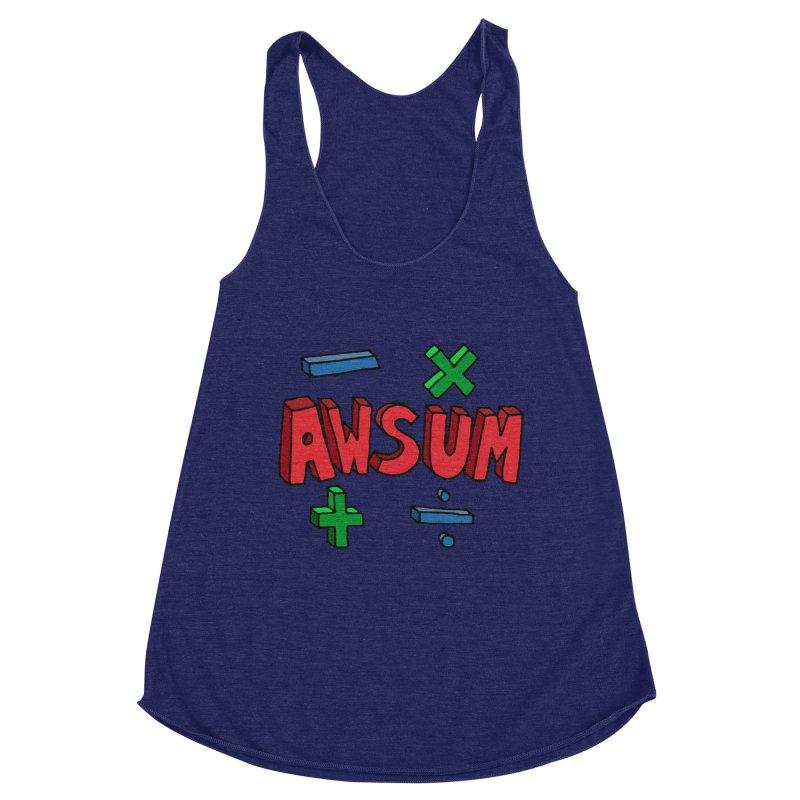 AwSum Women's Racerback Triblend Tank by Kelsorian T-shirt Shop