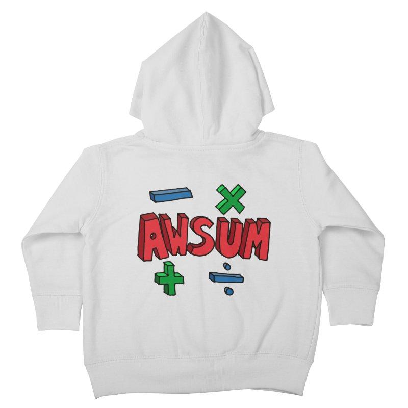 AwSum Kids Toddler Zip-Up Hoody by Kelsorian T-shirt Shop