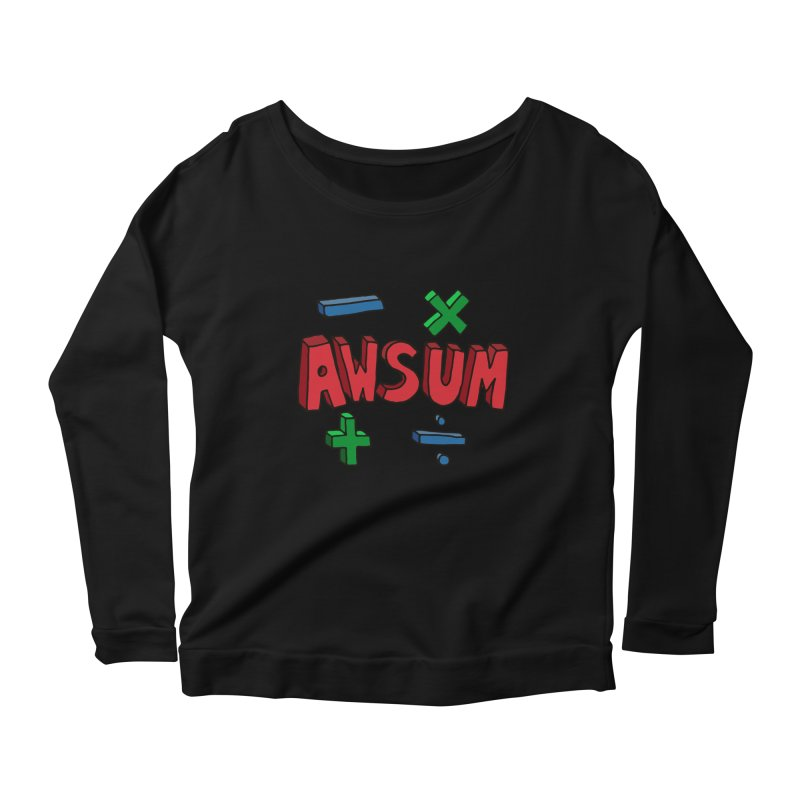 AwSum Women's Scoop Neck Longsleeve T-Shirt by Kelsorian T-shirt Shop
