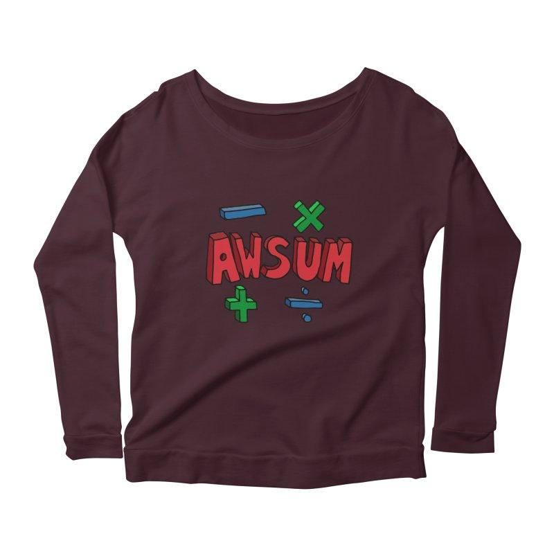 AwSum Women's Longsleeve Scoopneck  by Kelsorian T-shirt Shop