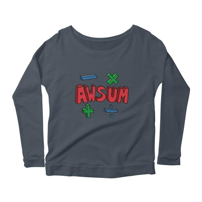 AwSum Women's Scoop Neck Longsleeve T-Shirt by Kelsorian T-shirt Shop