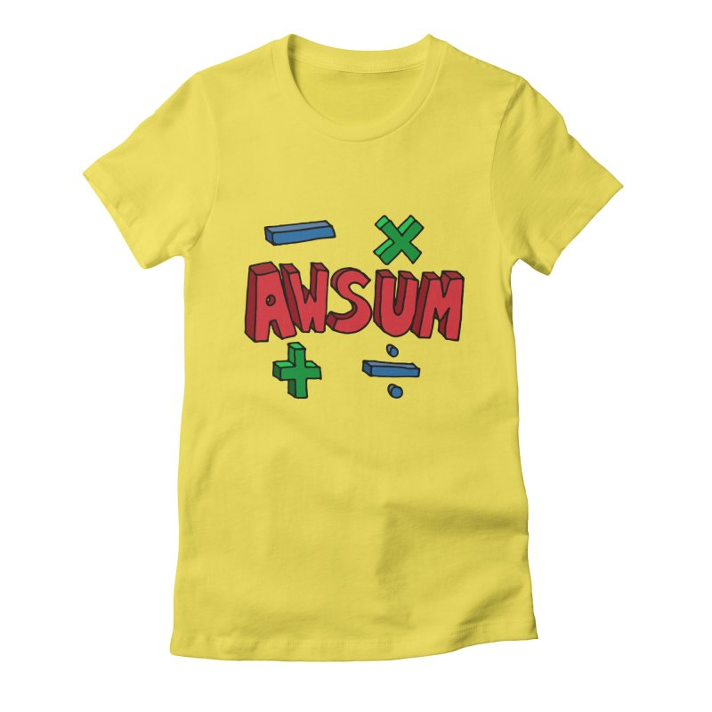 AwSum Women's Fitted T-Shirt by Kelsorian T-shirt Shop