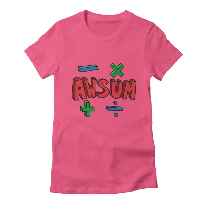 AwSum Women's Fitted T-Shirt by Kelsorian T-shirt Shop