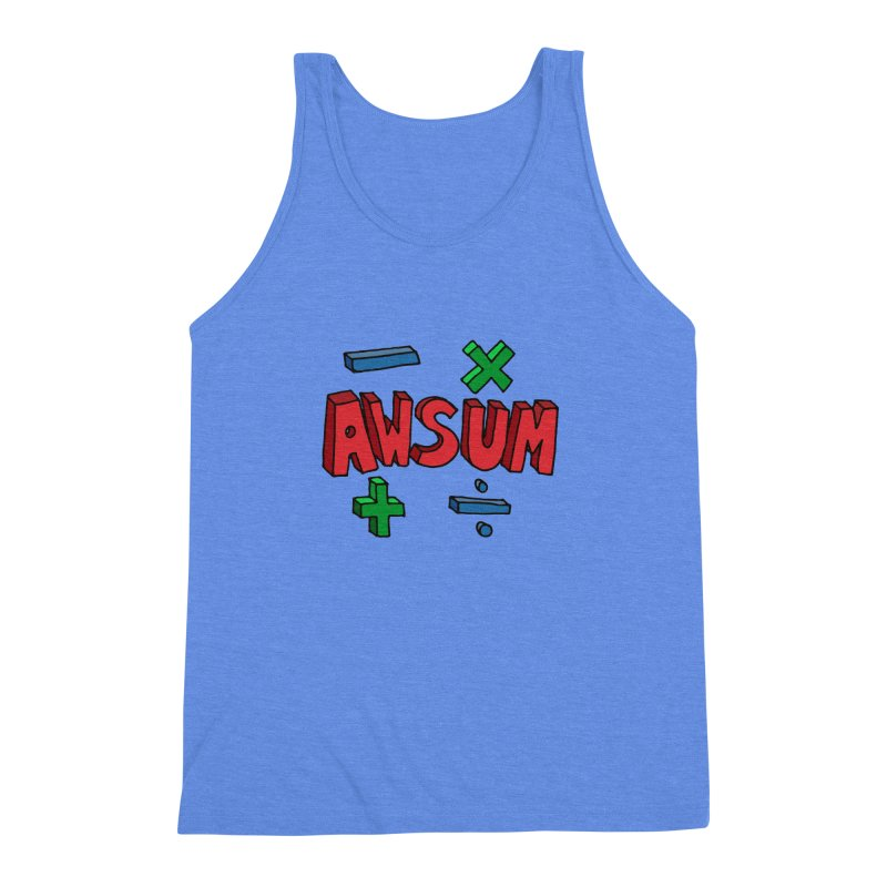 AwSum Men's Triblend Tank by Kelsorian T-shirt Shop