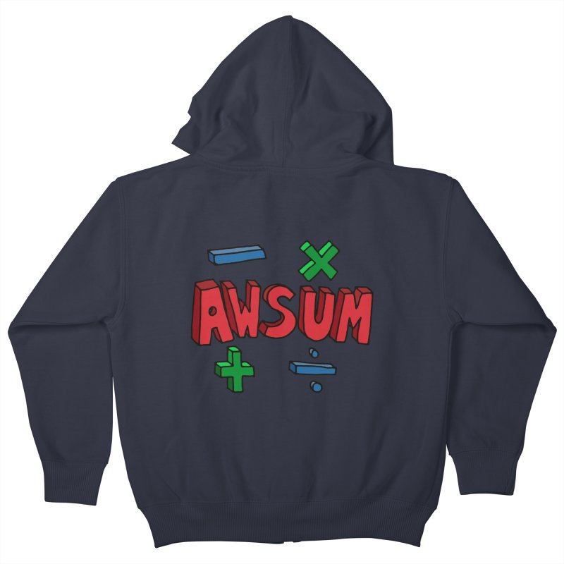 AwSum Kids Zip-Up Hoody by Kelsorian T-shirt Shop