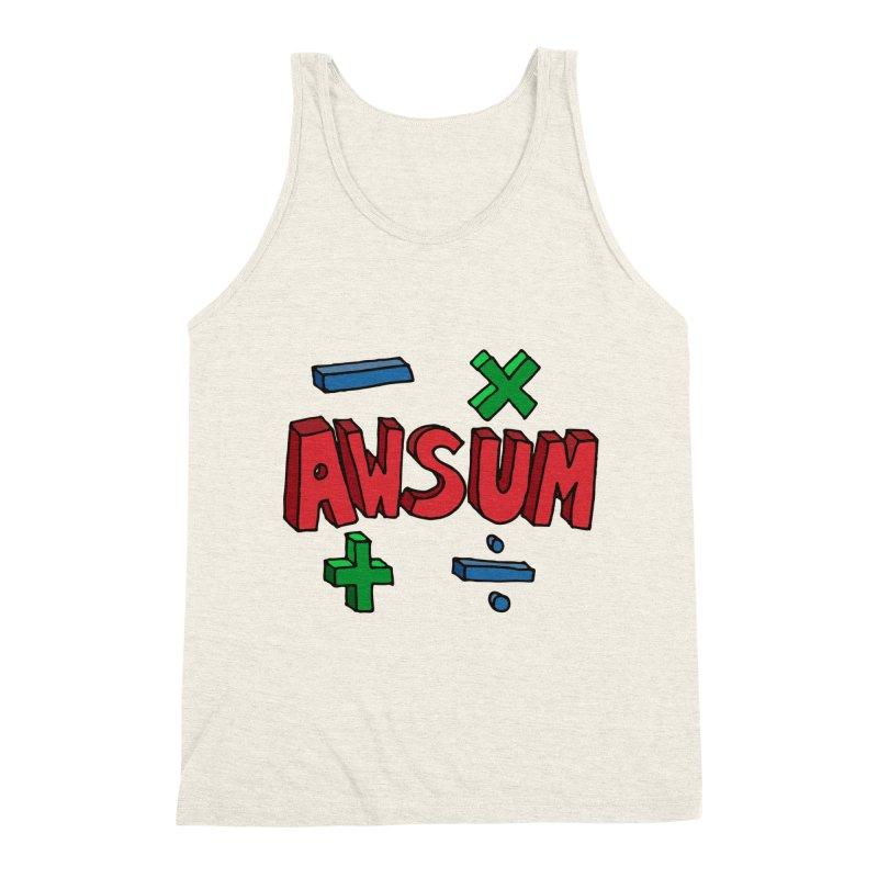 AwSum Men's Triblend Tank by Kelsorian T-shirt Shop