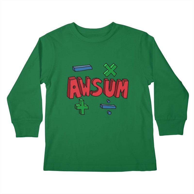 AwSum Kids Longsleeve T-Shirt by Kelsorian T-shirt Shop
