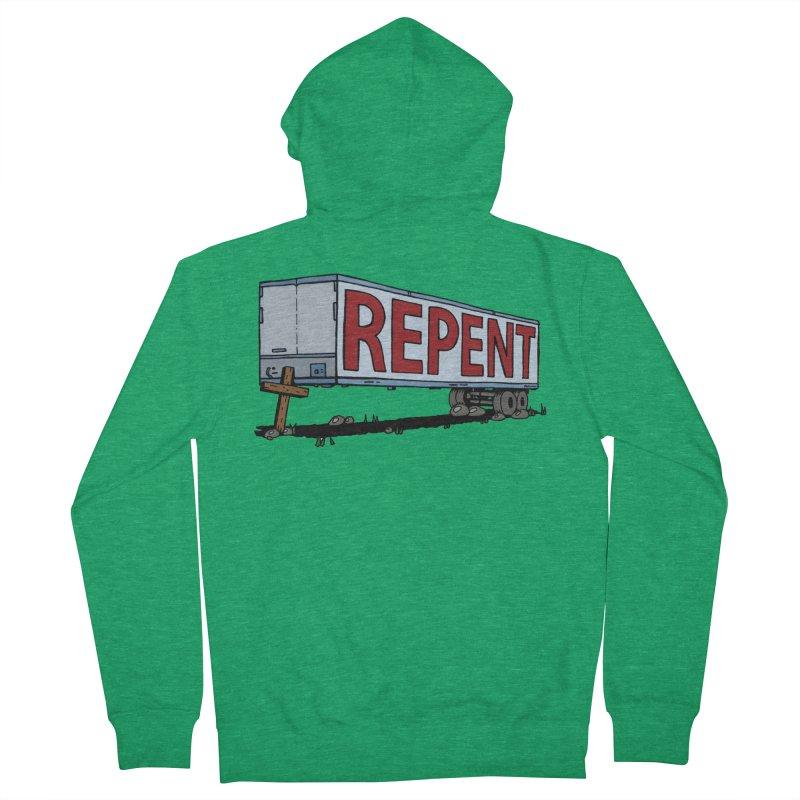 Repent Cross Trailer Men's Zip-Up Hoody by Kelsorian T-shirt Shop
