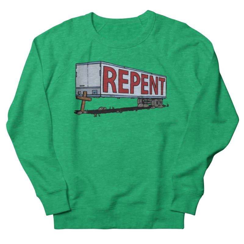 Repent Cross Trailer Women's Sweatshirt by Kelsorian T-shirt Shop