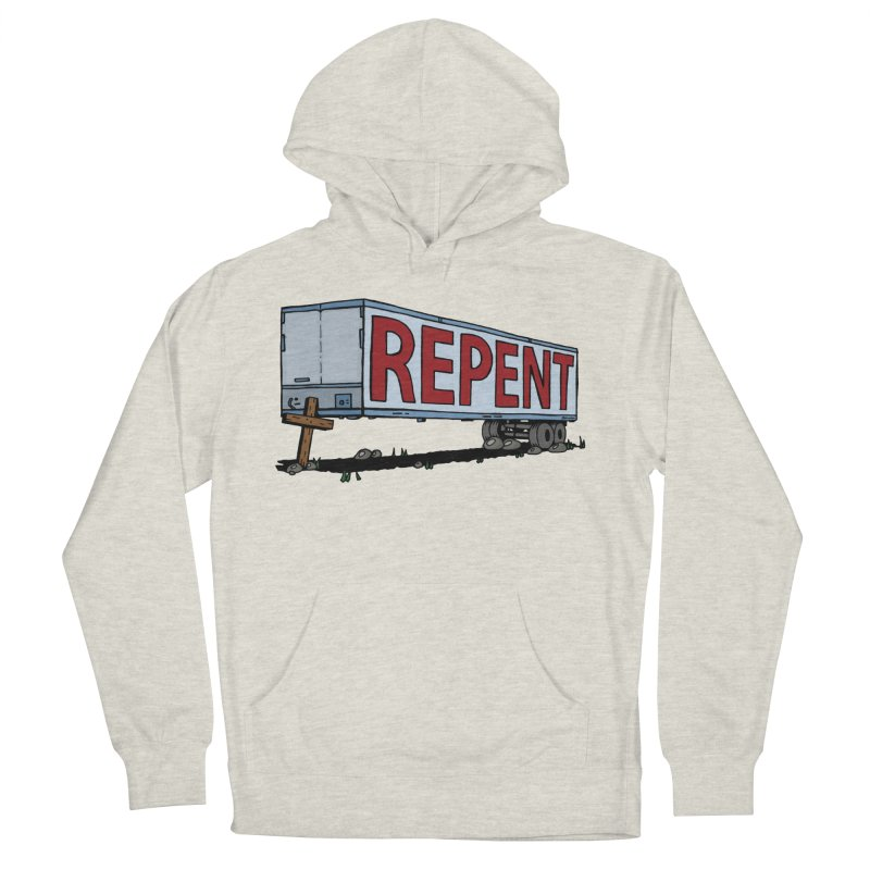 Repent Cross Trailer Women's French Terry Pullover Hoody by Kelsorian T-shirt Shop