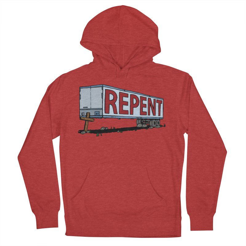 Repent Cross Trailer Men's French Terry Pullover Hoody by Kelsorian T-shirt Shop