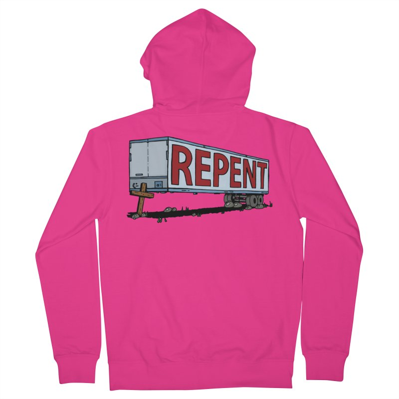 Repent Cross Trailer Men's Zip-Up Hoody by Kelsorian T-shirt Shop