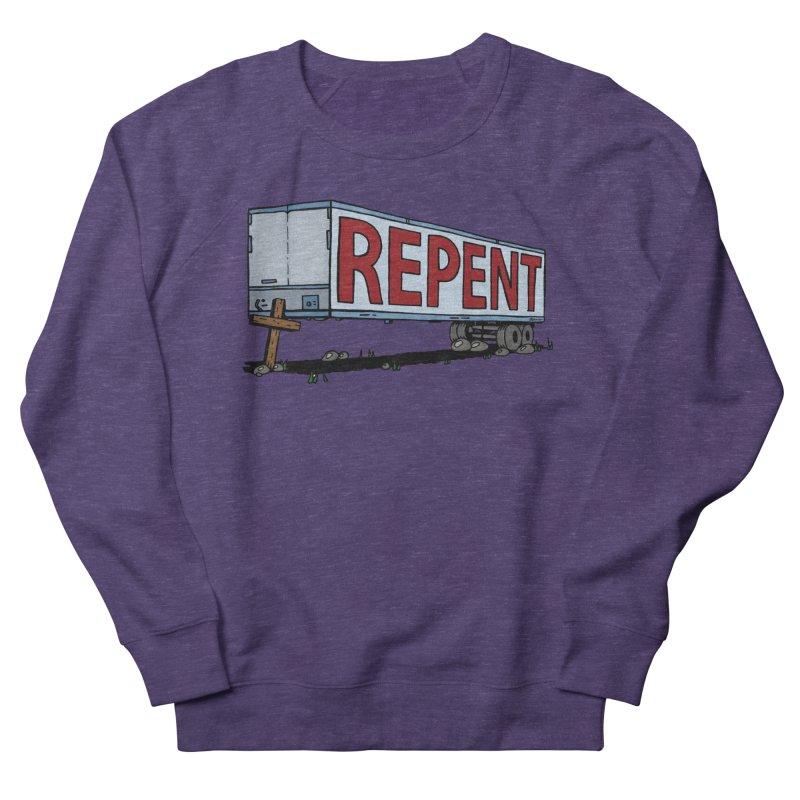 Repent Cross Trailer Women's Sweatshirt by Kelsorian T-shirt Shop