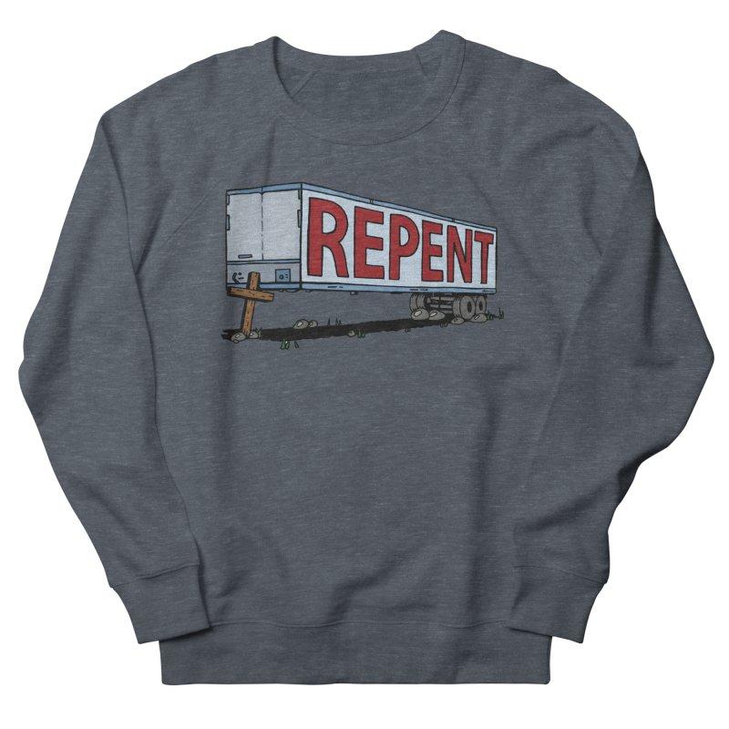 Repent Cross Trailer Women's French Terry Sweatshirt by Kelsorian T-shirt Shop