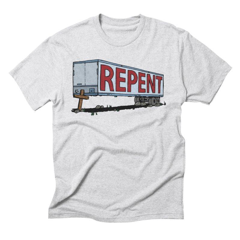 Repent Cross Trailer Men's Triblend T-shirt by Kelsorian T-shirt Shop