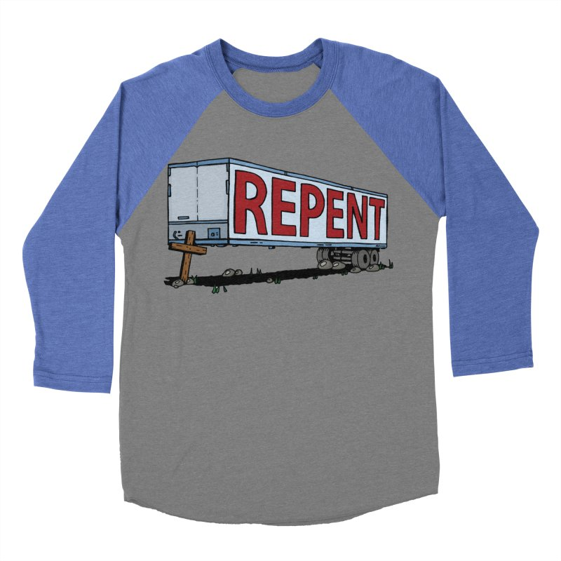 Repent Cross Trailer Women's Longsleeve T-Shirt by Kelsorian T-shirt Shop