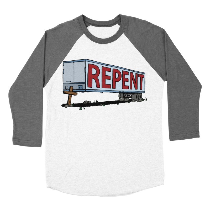 Repent Cross Trailer Men's Baseball Triblend Longsleeve T-Shirt by Kelsorian T-shirt Shop