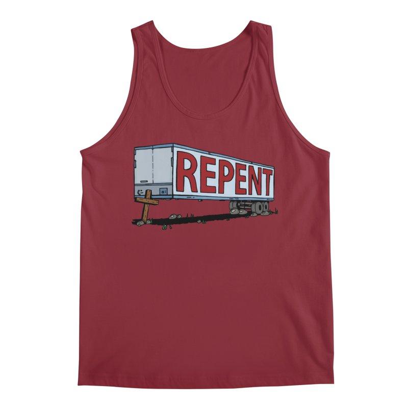 Repent Cross Trailer Men's Regular Tank by Kelsorian T-shirt Shop
