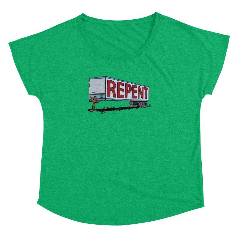 Repent Cross Trailer Women's Dolman by Kelsorian T-shirt Shop