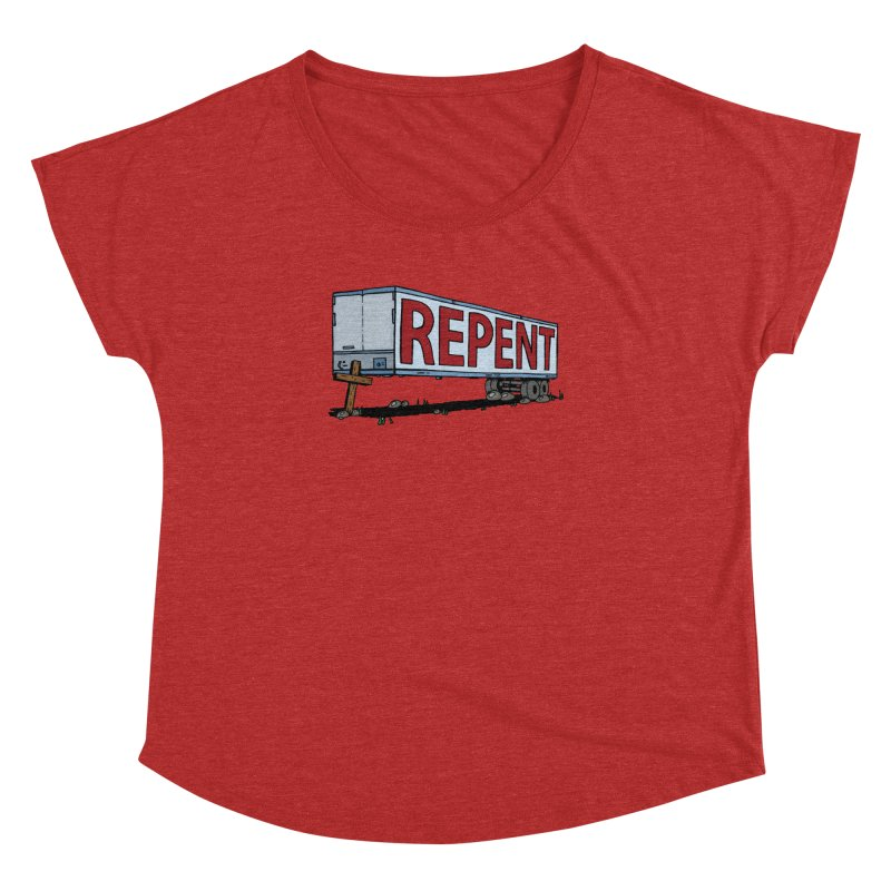 Repent Cross Trailer Women's Dolman Scoop Neck by Kelsorian T-shirt Shop
