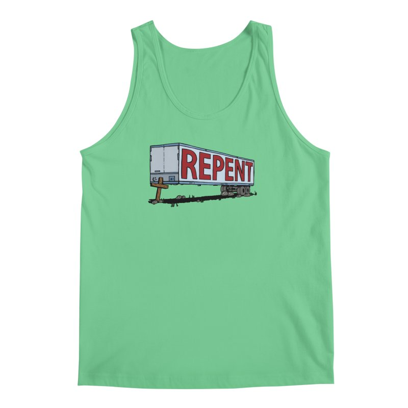 Repent Cross Trailer Men's Regular Tank by Kelsorian T-shirt Shop