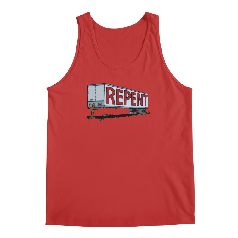 Repent Cross Trailer Men's Tank by Kelsorian T-shirt Shop