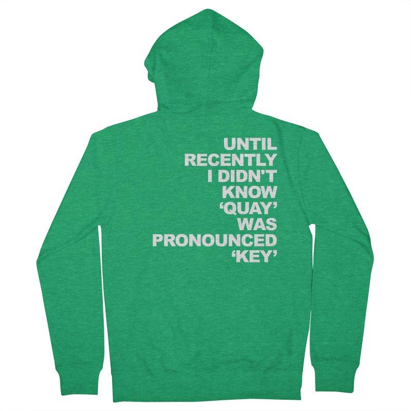 Quay or Key? Men's Zip-Up Hoody by Kelsorian T-shirt Shop