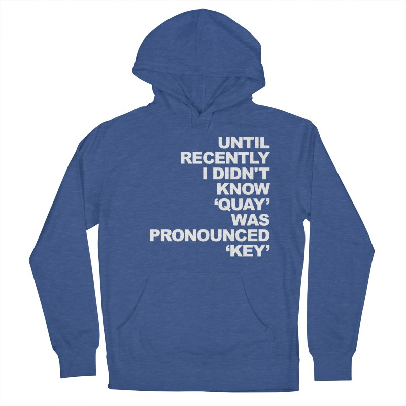 Quay or Key? Men's French Terry Pullover Hoody by Kelsorian T-shirt Shop
