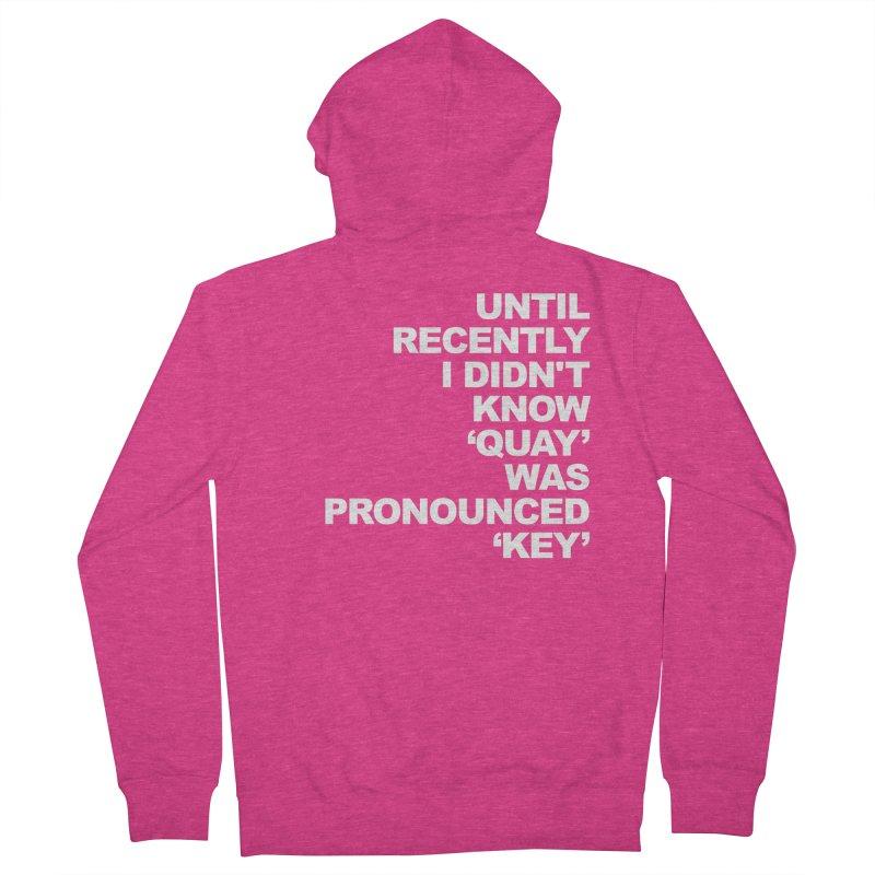 Quay or Key? Women's French Terry Zip-Up Hoody by Kelsorian T-shirt Shop